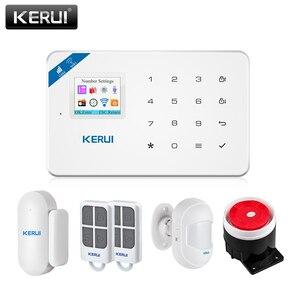 KERUI W18 Wireless WiFi GSM Home Security Alarm System Android ios APP Control Burglar Alarm System with Mini PIR Motion Sensor(China)