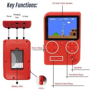 Image 3 - 2020 новая игровая консоль в стиле ретро со встроенными 800 играми и поддержкой геймпада, портативная 8 битная портативная мини консоль для видеоигр, подарок для детей