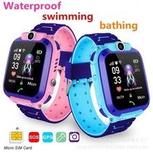 Wodoodporne dzieci Q12 inteligentny zegarek SOS zegarek Smart anti-lost zegar dziecięcy otrzymać telefon zwrotny od monitor lokalizacji lokalizator zegarek nie telefon na kartę Sim zabawki tanie tanio BECOLI Electric none 2-4 lat 5-7 lat Sport