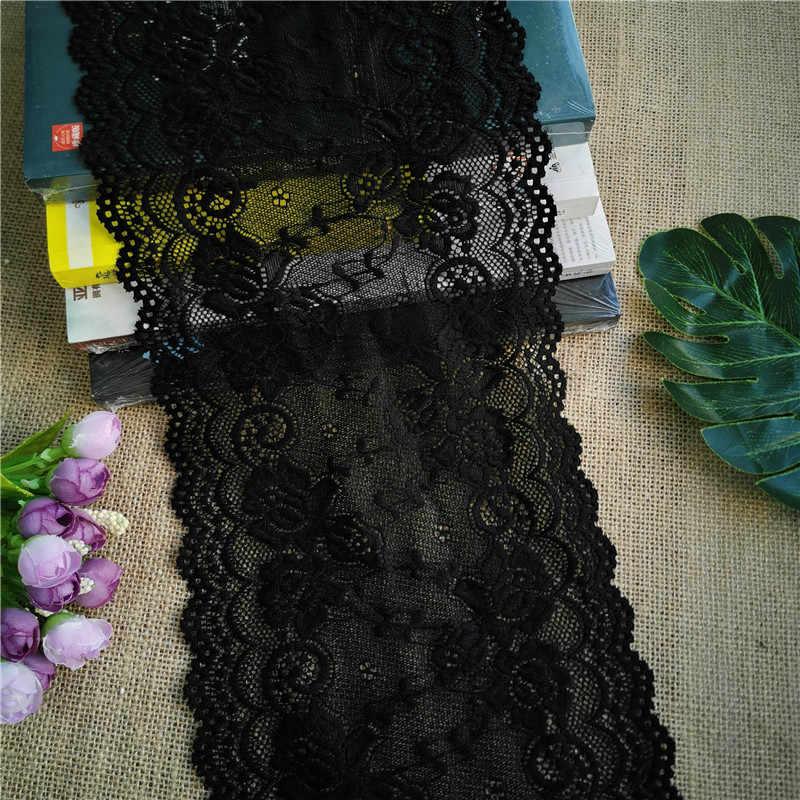 اضافية سميكة الدانتيل الاكسسوارات الدانتيل واسعة شبكة الشاش تنورة فستان من القماش الأسود الدانتيل حافة فستان من القماش التطريز الديكور