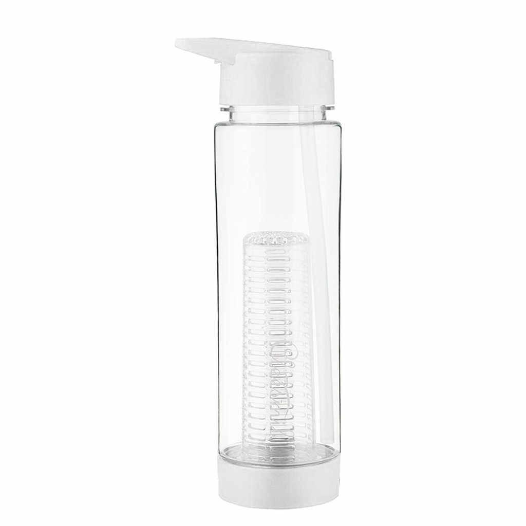 Nueva botella de agua botella para agua con fruta deportes taza de fruta con tapa de paja y cesta de infusión 700ml 2020 nuevo plástico fácil de limpiar