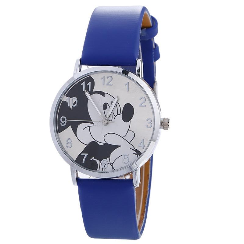 2019 Popular Children's Cartoon Mickey Mouse Watch Cute Girl Boy Student Belt Quartz Watch Kids Watches
