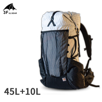 3F UL GEAR 45+10L YUE Camping Outdoor Ultralight Backpack Women/Men Sport Bag X PAC Breathable Bag Rucksack Adjust System