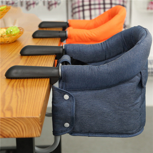 Portable Baby Highchair Foldable Feeding Chair Seat Booster Safety Belt Dinning Hook-on Chair Harness Lunch Cushion(China)