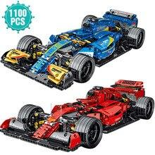 Especialista famoso esporte carro blocos de construção super velocidade f1 modelo de veículo de corrida tijolos brinquedos presente aniversário para o namorado
