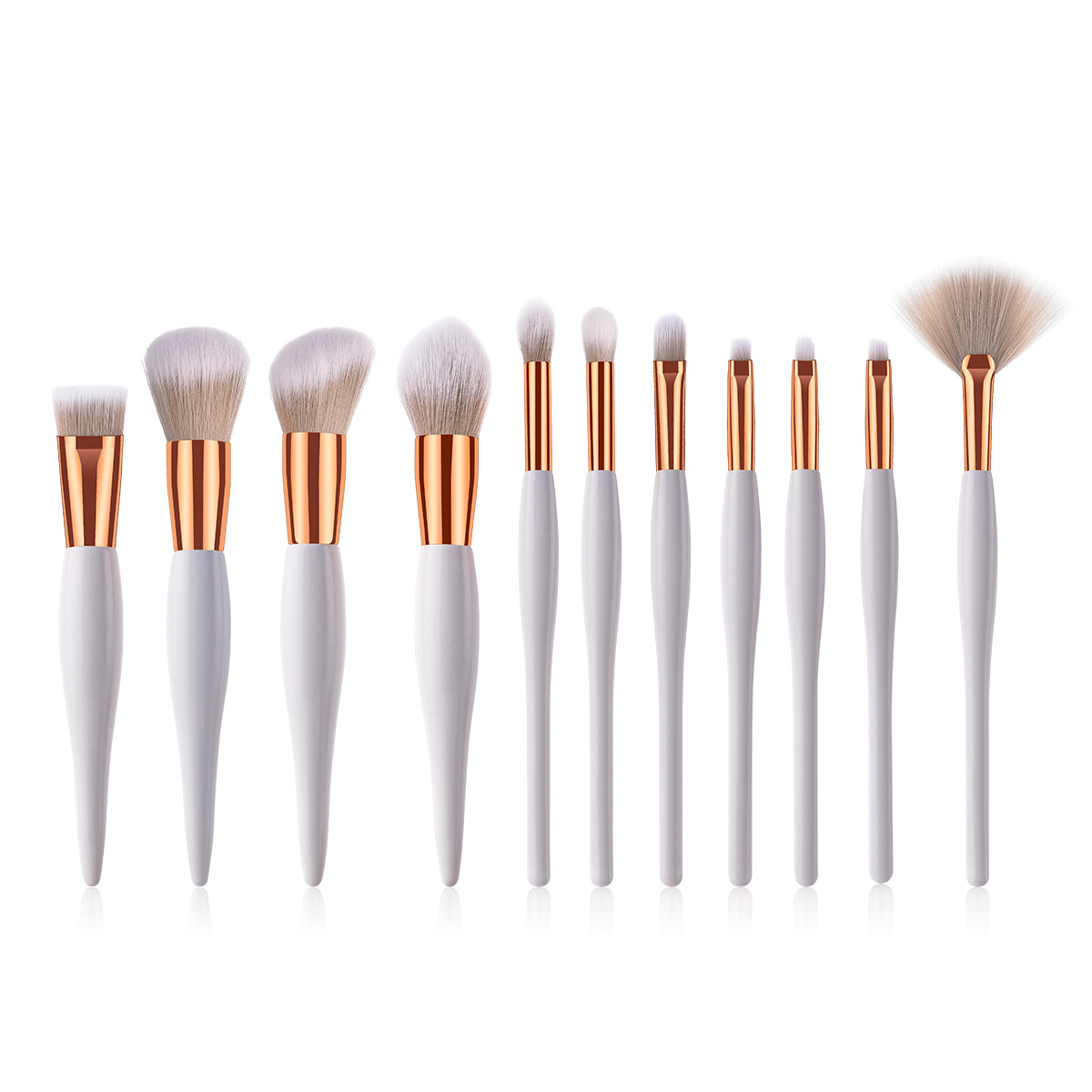 Large Rose Gold Powder Blush Brush Professional Cosmetic Brushes Set Face Contour Brush Eye Shadow Lip Brush Beauty Makeup Tool