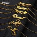 Индивидуальное ожерелье с именем, ожерелье с именем на заказ, ювелирные изделия на заказ, ожерелье на заказ для женщин и мужчин, индивидуаль...
