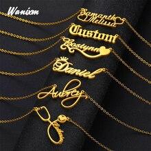 Colar de nome personalizado, colar de nome personalizado, jóias feitas sob encomenda, colar feito sob encomenda, colar de homens femininos, presente personalizado para ela