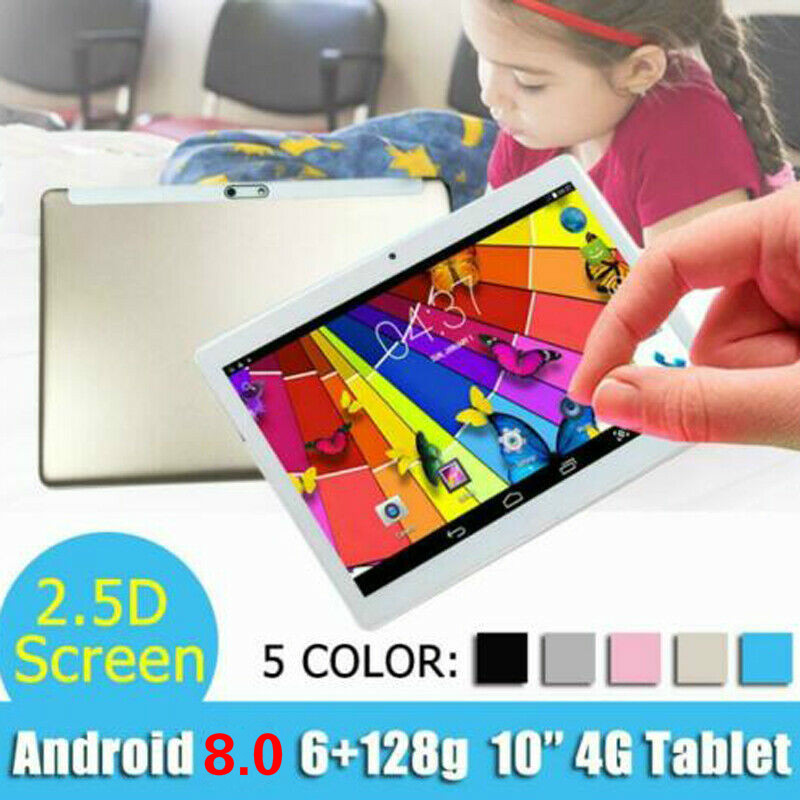 10.1 Inch Tablet Android 8.0 Octa Core PC 6G+128GB Wifi  2 SIM GPS Dual Camera 2.5D Screen 4G LTE GPS WIFI Bluetooth Tablet