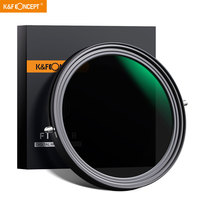 K&F Concept ND2 ND32 67mm 77mm 82mm Variable Fader ND Filter CPL Circular Polarizing Filter 2 in 1 for Camera Lens NO X Spot