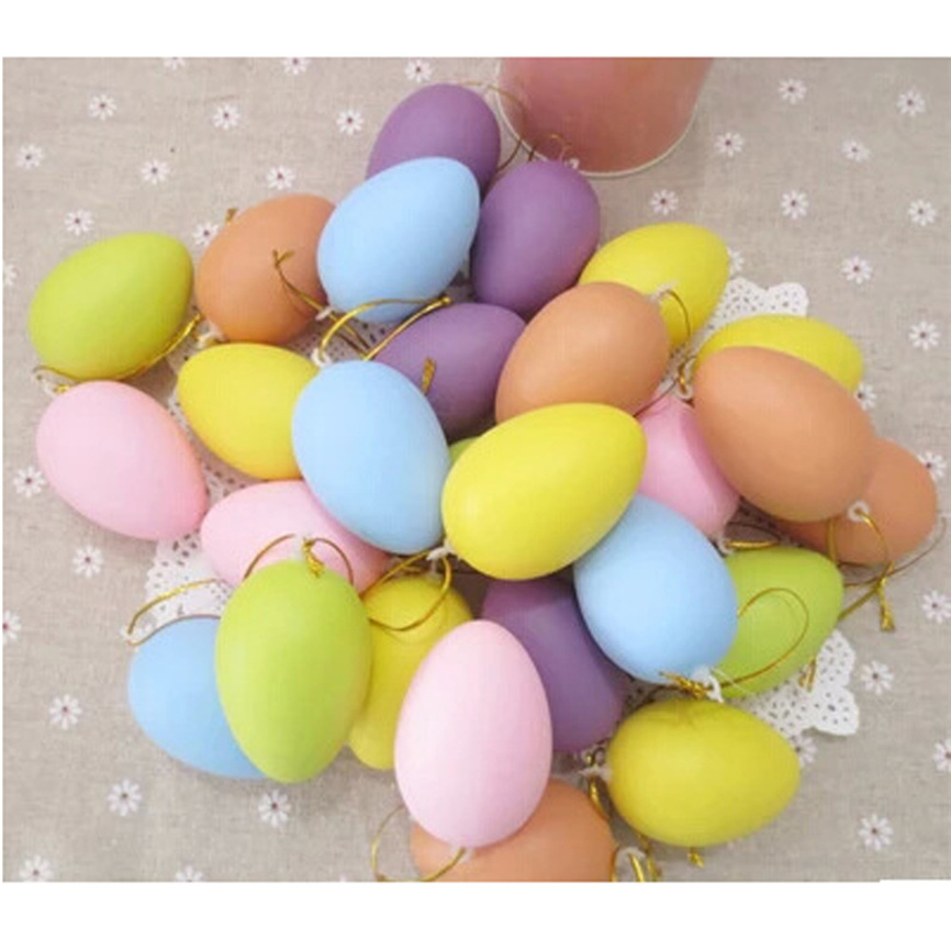 12pcs Toddler Toys Mixed Color 40x60mm Toy Easter Decoration For Home Kid Toy Children DIY Painting Egg Novelty Funny Plaything