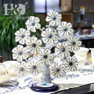 Image 2 - H & D Древо фэн шуй, цветы от сглаза для защиты, удачи и удачи, рождественский подарок, Декор для дома из смолы