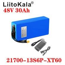 LiitoKala 48V 30Ah 21700 5000mah 13S6P 리튬 이온 배터리 스쿠터 배터리, 48v 30ah 전기 자전거 배터리 XT60 48V2A 충전기