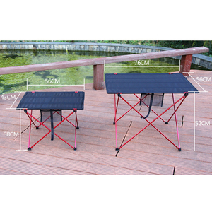 Image 5 - Outdoor Table Portable Foldable Camping Furniture Computer Tables Picnic Size S L 6061 Al Light Color Anti Slip Folding Desk