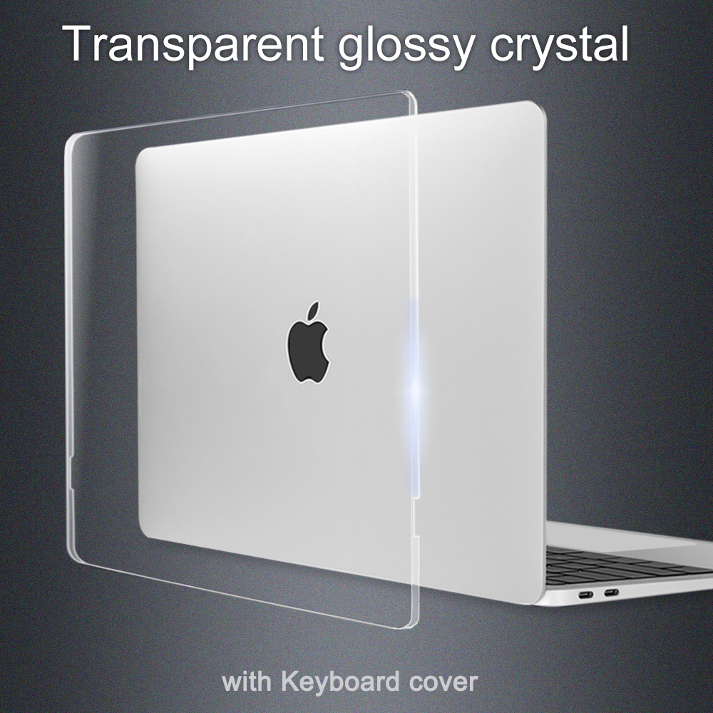 Redlai Crystal Transparency & Matte White Pro 13 15 Case With/t Touch Bar A1706 A1708 A1707 For Macbook Air 13 Retina 13 Inch