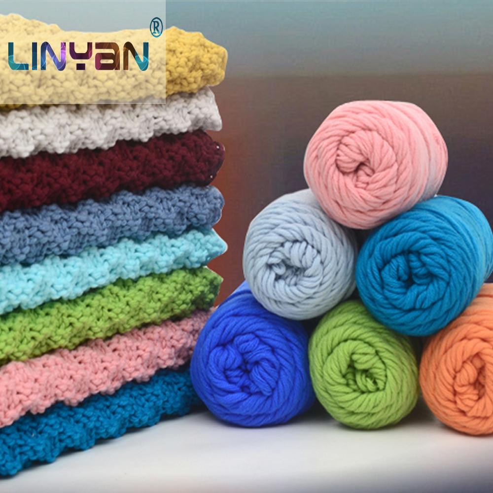 Vente nouveau 6 ballsx 50 g soft cashmere soie velours Bébé Main Tricot Crochet Fil 12