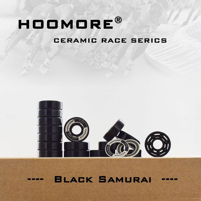 Black Oxide Ring SI3N4 Black Ceramic 608RS High Speed Self-lubricated 7-balls Undeformed Stable 608 Inline Speed Skating Bearing
