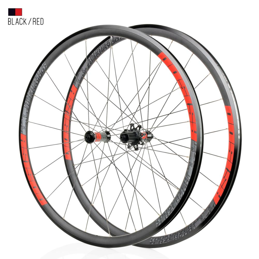 koozer a pair High Strength 20H 700c Road Bicycle Wheels V Brake Super Light 6 Pawls 72 Click Alloy Road Bicycle Wheels For 11S(China)