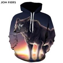 Fashion Men Wolf Animal 3D Printed Hooded Hoodies / Womens Shinning Design Sweatshirts Harajuku Hoody