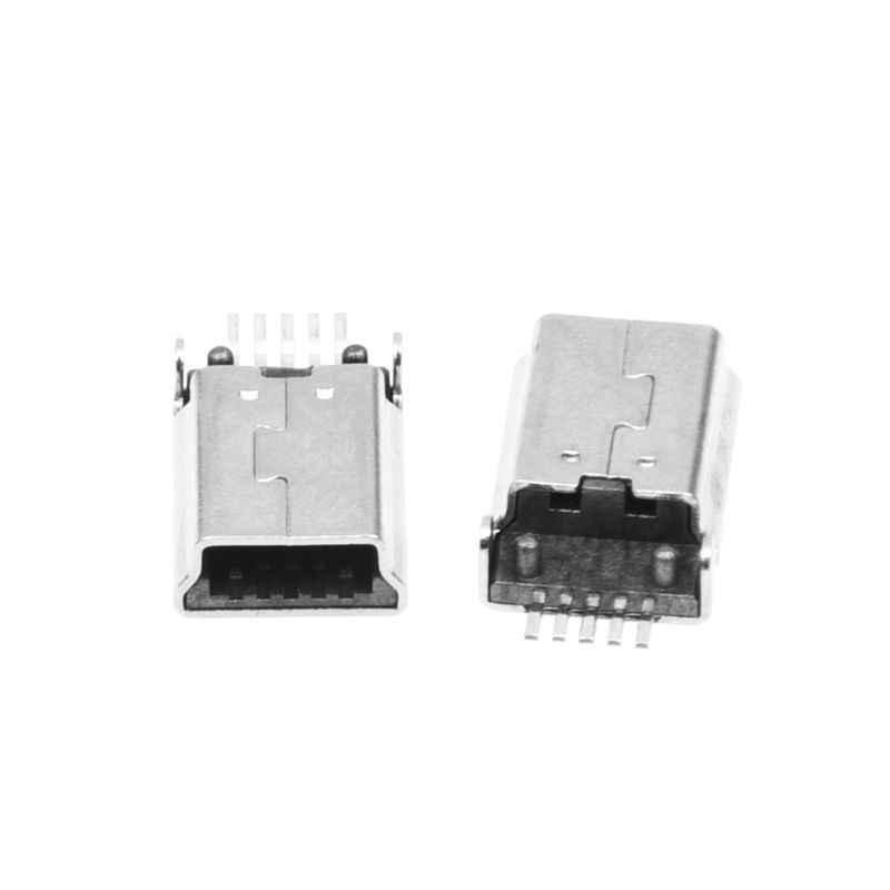 10 шт Мини Тип usb B штекер 180 Градусов 5-Контактный SMD SMT припой и гнездом для наушников