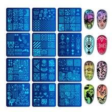 Biutee 6*6 Cm Vuông Móng Dập Tấm Thiết Kế Ren Hoa Nhiệt Độ Móng Tay Nghệ Thuật Tem Dán Tiêu Bản Hình Ảnh Đĩa stencils