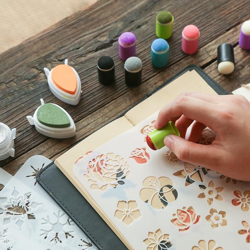 5pcs/lot Creative Finger Sponge Daubers Inkpad Stamps For DIY Scrapbooking Painting Tools Crafts