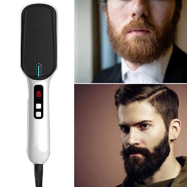 LED Display Ionic Beard Straightener for Men Hair Straightening Comb Adjustable Ceramics Heating Temperature HJL2019 1