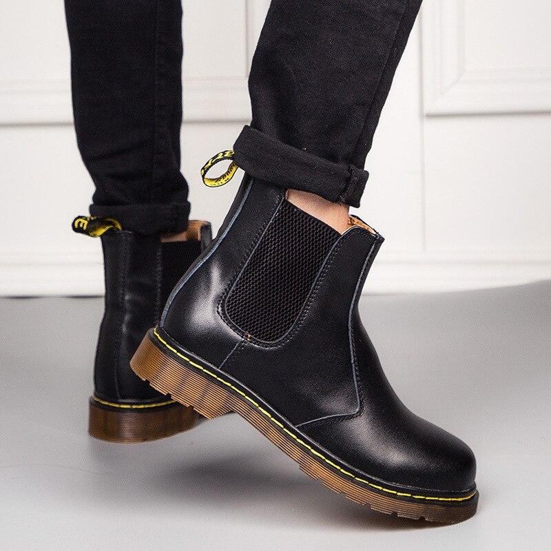Ботинки челси большого размера, ботинки мартинсы для влюбленных, мужская обувь, кожаные ботинки для мужчин и женщин, кожаная обувь для отдыха|Ботинки| | АлиЭкспресс