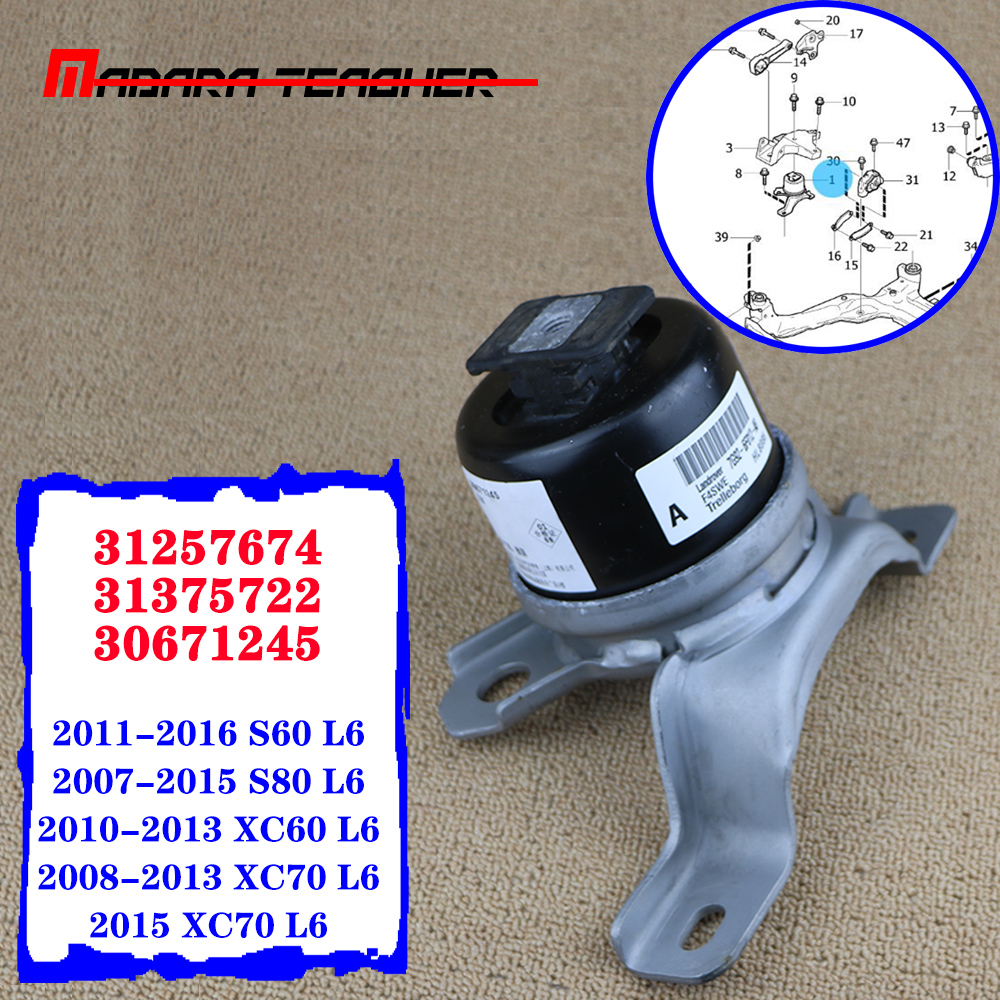 Front Right Engine Motor Mount For Volvo S60 S80 XC60 XC70 3.2L L6 2008-2013