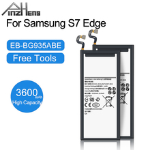 PINZHENG 3600mAh EB BG930ABE Battery For Samsung Galaxy S7 Edge G935F G9350 Battery Replacement Mobile Phone Battery With Tools