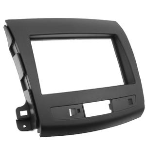 Image 4 - 2Din Car Radio Fascia For Mitsubishi Outlander 2008 2012 Auto Stereo Interface Panel In Dash Mount Frame Kit