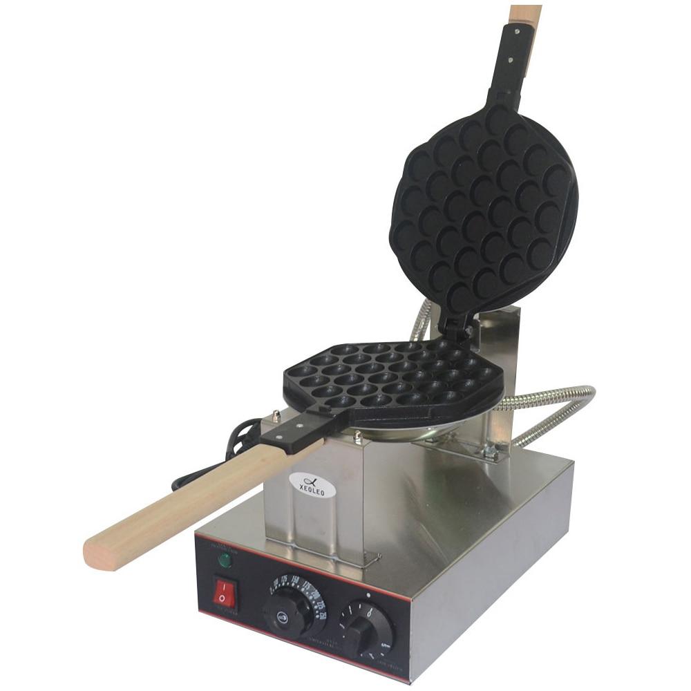 XEOLEO Commercial Egg puff maker QQ Egg waffle machine Stainless steel Egg waffle maker 1400W 220V Hongkong bubble egg cake oven