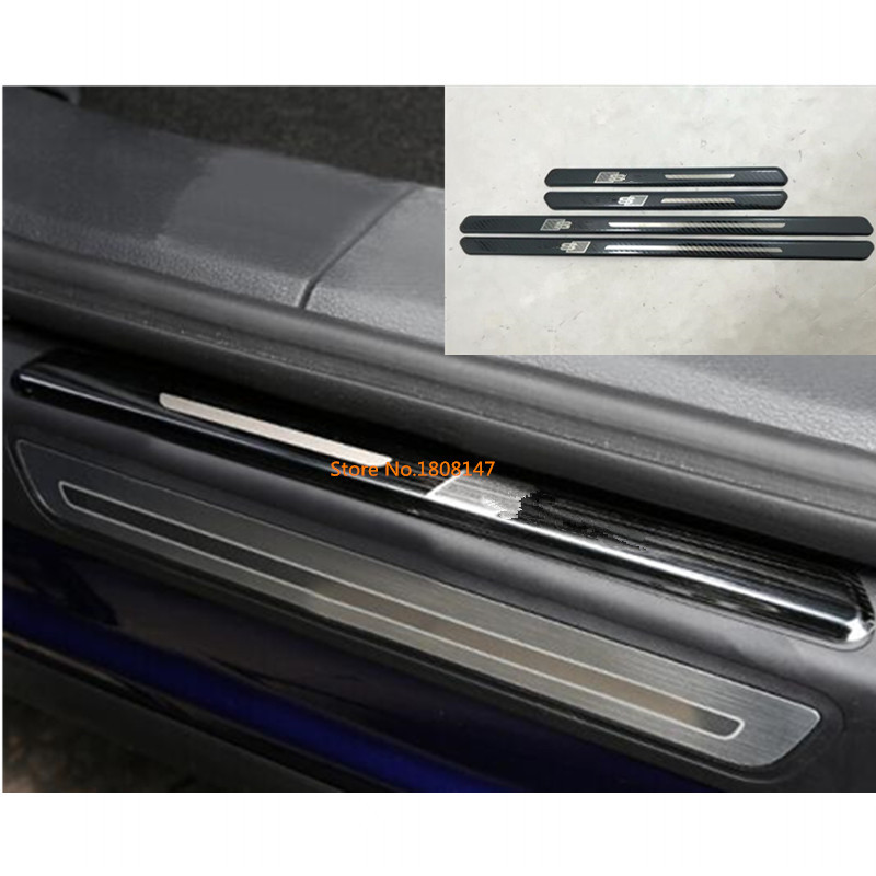 Stainless Outer Door Sill Scuff Plate Cover 4pcs for Jeep Wrangler JL 2018 2019