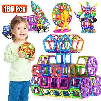 Große Größe Magnetische Designer Magnet Bausteine Zubehör Pädagogisches konstruktor Spielzeug Für Kinder|Magnetisch|   -