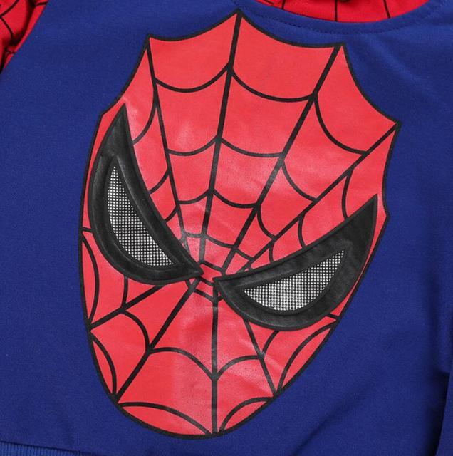 children costume boys clothing sets- Spiderman hoodies and sweatshirt  3