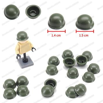 Us Army Figures Helmet Military Building Block Weapons Steel Helmet Set Moc WW2 Special Soldier Equipment Model Gifts Child Toys