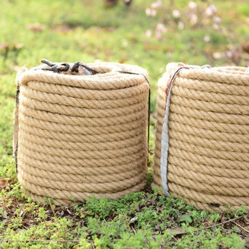 10mm corda de cânhamo corda de juta natural cabo torcido diy artesanato artesanal decoração para casa decoração da parede 3m a 50m