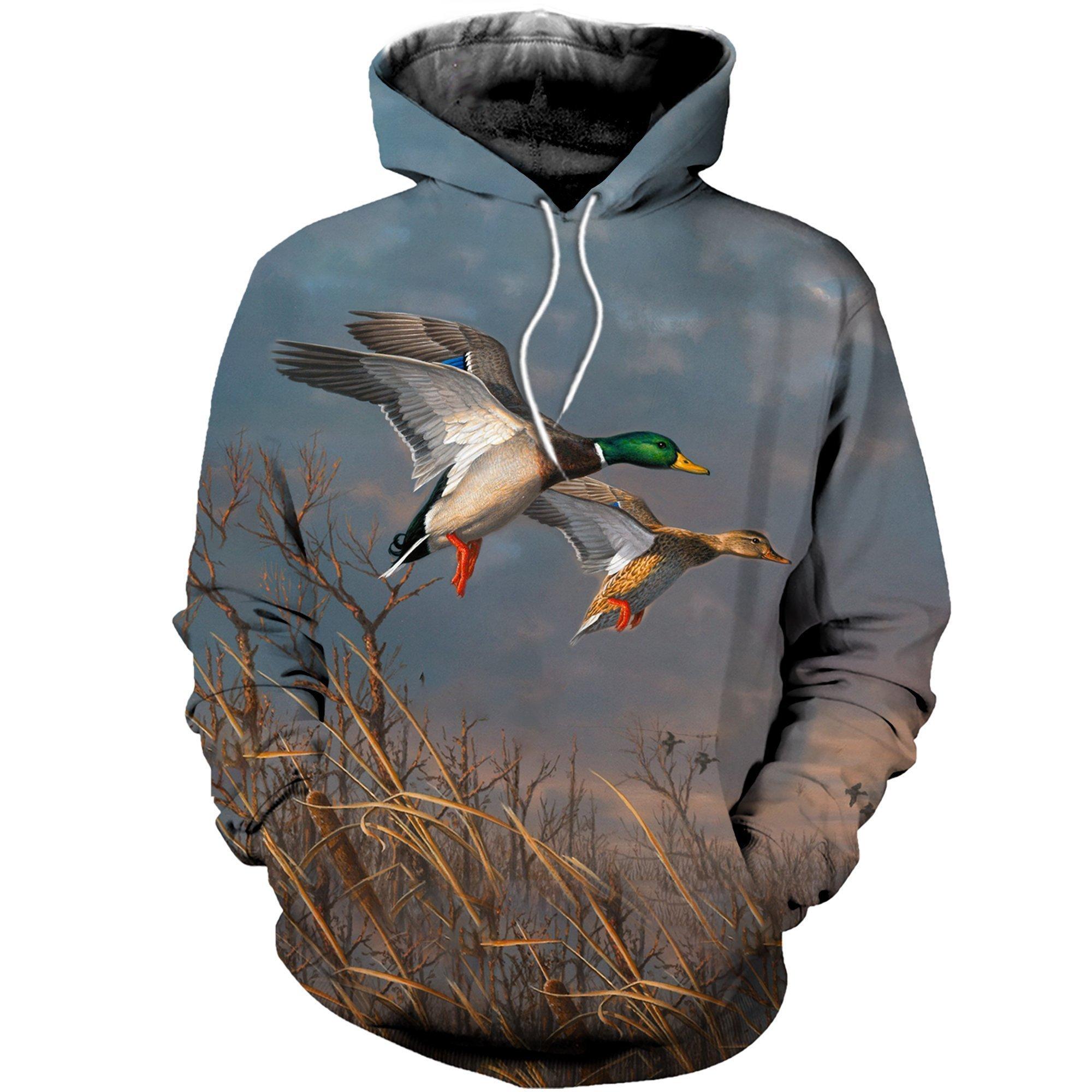 Drop Shipping 3D Printed Animal Ducks Hoodies Fashion Men Sweatshirt / Zip Hoodie Unisex Casual Hoody Pullovers Streetwear
