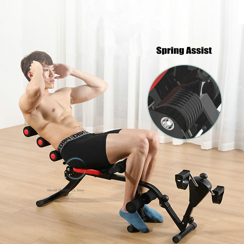 Household Weight-loss Fitness Equipment with Cycling Trainer, Sit-Up Aid Device, Multi-Function Abdominal Board Exercise Machine image