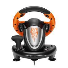 PXN V3II гоночный игровой коврик 180 градусов рулевое колесо вибрационные джойстики со складной педалью для ПК PS3 PS4 все-в-одном