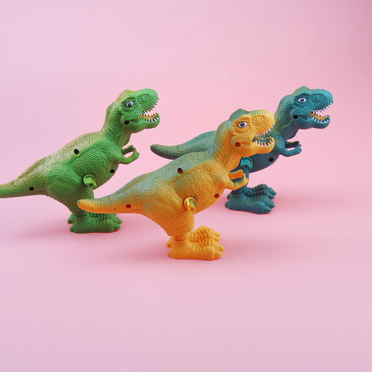 Creative On Wind-up Toy Plastic Jumping Dinosaur Children'S Educational Toy Kindergarten Students Prizes Small Gifts