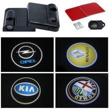 2 pçs led porta do carro luz de cortesia projetor para toyota corolla yaris rav4 avensis auris camry c-hr 86 prius acessórios de bens de carro