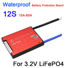 DYKB Waterproof 12S 36V 15A 20A 30A 40A 50A 60A LiFePO4 BMS lithium battery Protection Board W/ balance 12 CELL electric e bike