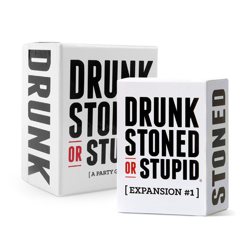 DRUNK STONED OR STUPID Exploding Cards Board Game Anti-Human Card