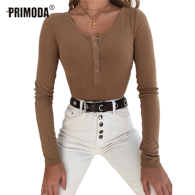 Female Skinny Body Spring Autumn Bodycon Bodysuit Feminino Solid Sexy Club Stretchy Rompers Long Sleeve Knitted Bodysuit PR0044
