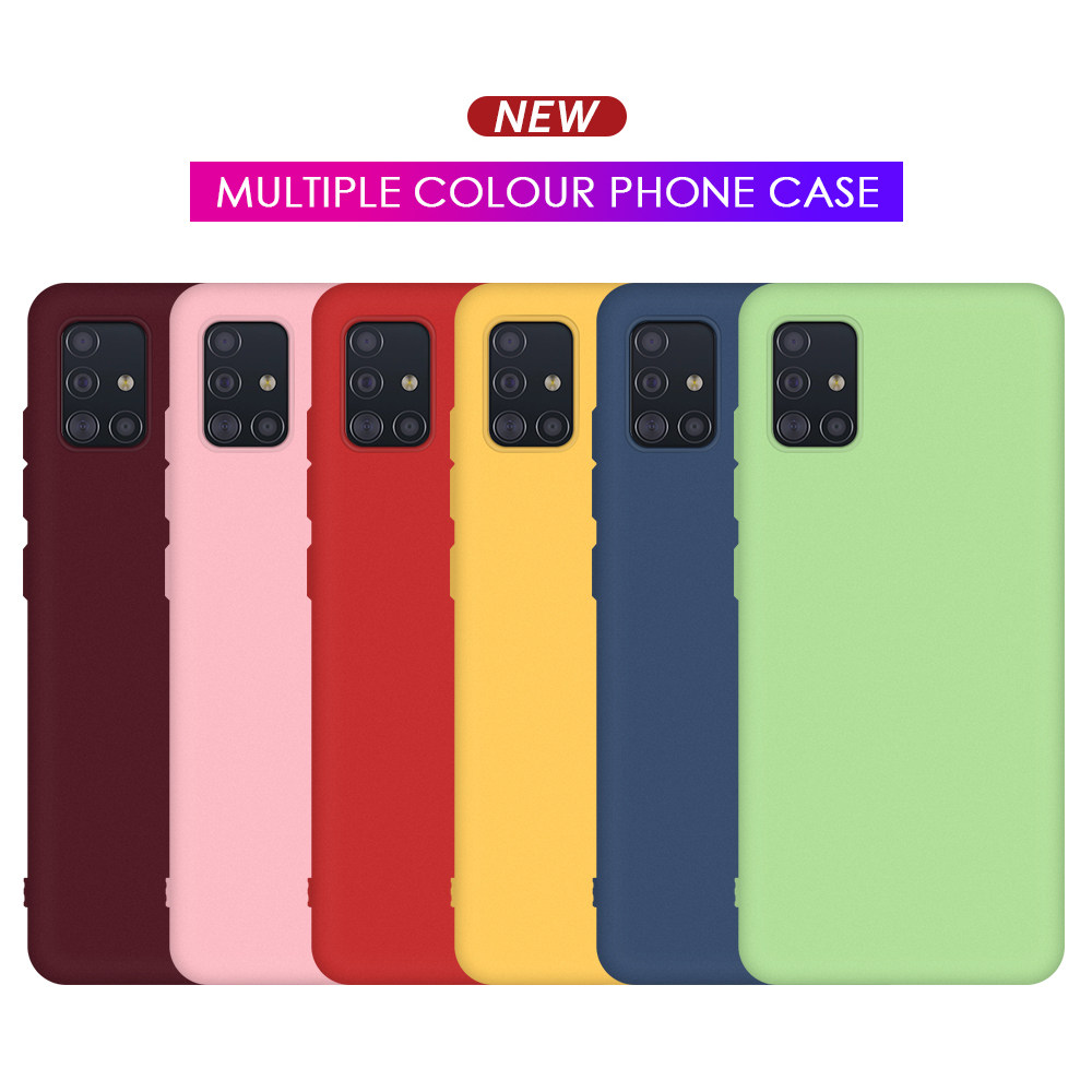 Silicone TPU Cover For Samsung A51 A71 Case Cute Case For Samsung Galaxy A71 A51 S20 Ultra Soft Phone Case