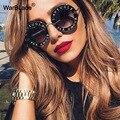 Солнцезащитные очки женские, круглые, винтажные, градиентные, UV400