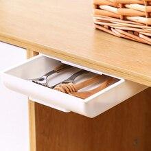 Самоклеющийся лоток для карандашей, стол, стол, ящик для хранения, органайзер, коробка под столом, селфи-палка, скрытый органайзер, держатель...