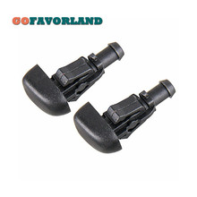 2PCS Front Car Accessories Windscreen Plastic Wiper Nozzle Water Spray Cleaning  3W7Z-17603-AA For Ford Crown 2003-2011 Flex