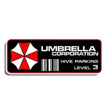 Zabawna naklejka motywem Umbrella Corporation ula Parking na poziomie 3 miejsce zamieszkania samochodu nalepki i dekoracyjne naklejki ścienne motocykl dekoracja samochodu KK13 * 4cm